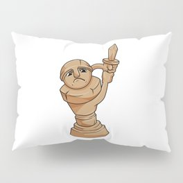 Pawn Chess piece at Chess with Sword Pillow Sham