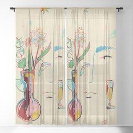 MAKE A WISH Sheer Curtain