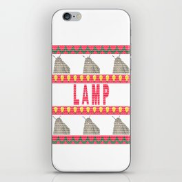 Moth Lamp Meme - Ugly Christmas Sweater Style iPhone Skin
