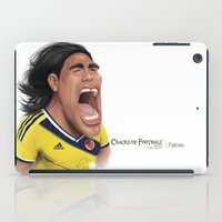 colombia iPad Cases featuring Falcao - Colombia by Sant Toscanni