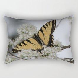 Eastern Tiger Swallowtail Butterfly Nestled Among Flowers Rectangular Pillow