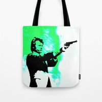 clint barton Tote Bags featuring Clint by Fimbis