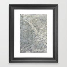 GREY ROCK Framed Art Print