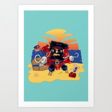 Lucky the Pirate Art Print