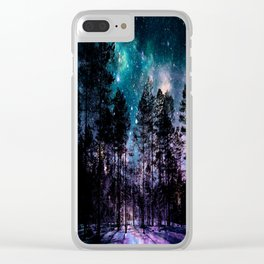 One Magical Night... teal & purple Clear iPhone Case
