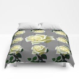 WHITE ROSES GARDEN DESIGN Comforters