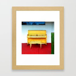 Out of Tune - Vintage Beach Piano Framed Art Print