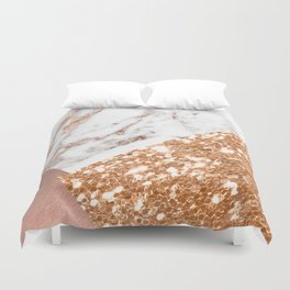 Layers of rose gold Duvet Cover