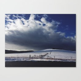 Montana Pasture in Winter Canvas Print