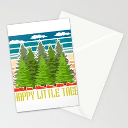 Happy Little Tree Outdoor Mountain Hiking Bigfoot Sasquatch Official Bigfoot Research Team T-shirt Stationery Cards