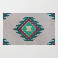 kilim Area & Throw Rugs featuring Pistachio Persian Kilim by Katayoon Photography & Design