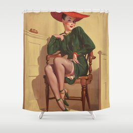 Pin Up Girl in Court Shower Curtain