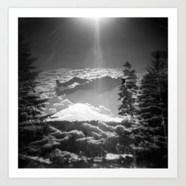 """Elevation"" - Holga Double Exposure Art Print"