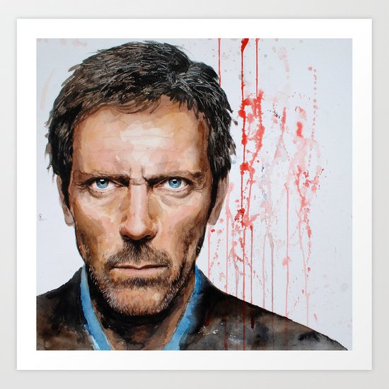 Hugh Laurie, House Art Print