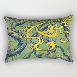 Epiphycadia II: Green Rectangular Pillow