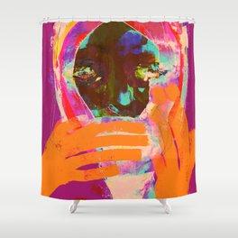 COUVRE TA BOUCHE IL FAIT FROID Shower Curtain