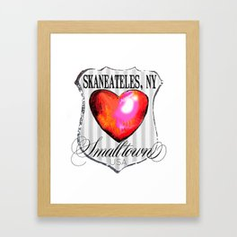 smalltown usa Framed Art Print