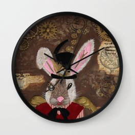The Honorable S. Punk Bunny Wall Clock