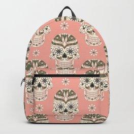 Fancy Floral Skull Backpack