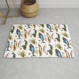 Whales and a Little Squid Rug