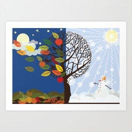 """""""Seasons"""" Autumn-Winter Art Print"""