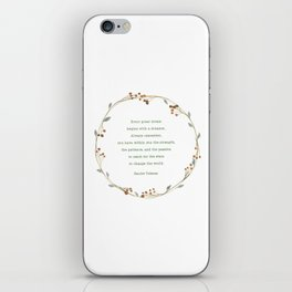 It Takes A Dreamer Quote Harriet Tubman iPhone Skin