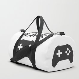 Player Text and Gamepad Duffle Bag