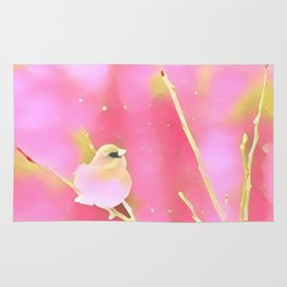 Junco Pink Yellow by CheyAnne Sexton Rug