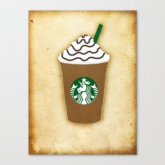 Coffee Unicorn Canvas Print