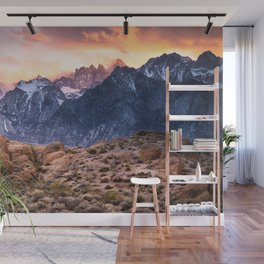 Mount Whitney and Alabama Hills Sunset Wall Mural