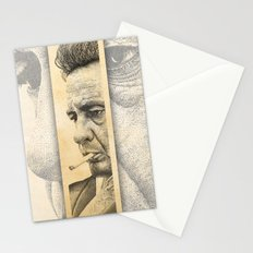 Johnny Cash Pointillism Drawing Stationery Cards