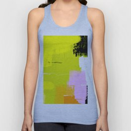 Bright yellow abstract art BH03 Unisex Tank Top