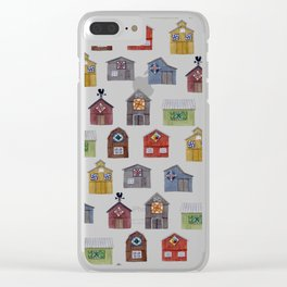 Barn Quilt Illustration Clear iPhone Case