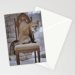 Fox on a Throne Stationery Cards