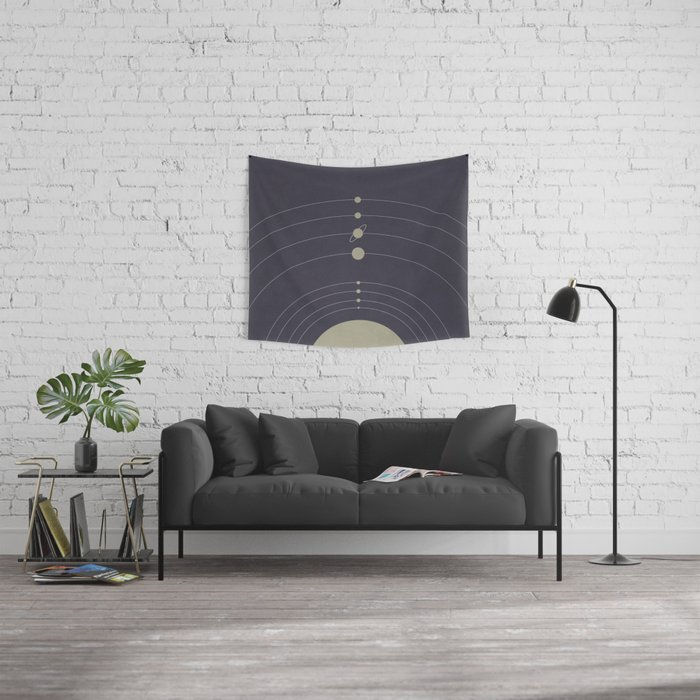 You are here (Solar System) Wall Tapestry