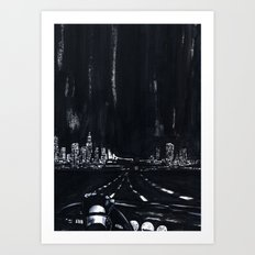 San Francisco Nightdrive Art Print