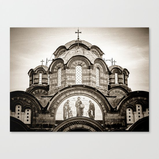 Monastery Katholikon in Greece Canvas Print