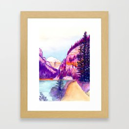 Walk around Lake Louise Framed Art Print