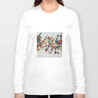 xbox Long Sleeve T-shirts featuring Colorful Triangles by Dizzy Moments