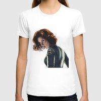 black widow T-shirts featuring Black Widow by Christine Tromop