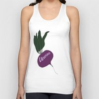 vegan Tank Tops featuring vegan by gaus