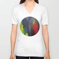 broken V-neck T-shirts featuring Broken by Benito Sarnelli