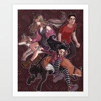 paisley Art Prints featuring paisley by callahaa