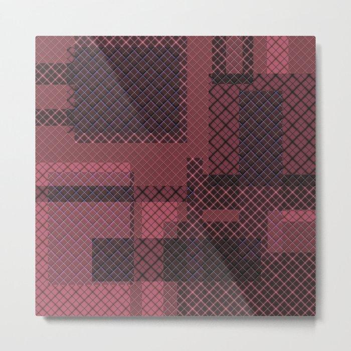 Burgundy red pacifrc , patchwork Metal Print