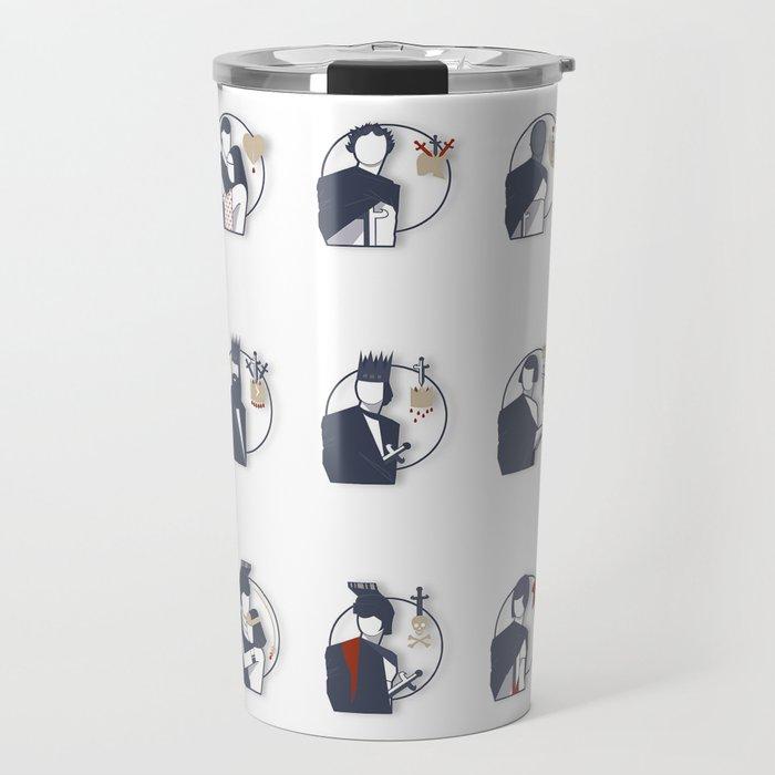 Shakespeare Characters Travel Mug by buhnka
