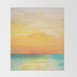 Summer Sunset Throw Blanket