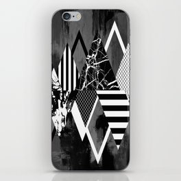 STAND OUT! In Black And White - Abstract, textured geometry! iPhone Skin