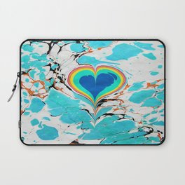 Turkish Heart Water Marbling Laptop Sleeve