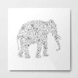 Elephant From Bicycles Bike Metal Print