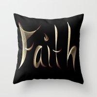 faith Throw Pillows featuring Faith by Tina Vaughn